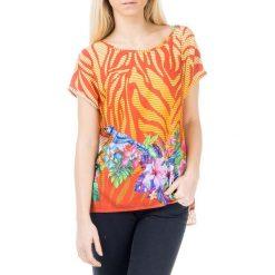 T-shirty damskie: T-shirt w kolorze pomarańczowym