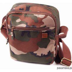 Torba miejska II na ramię - Nuff wear - woodland. Brązowe torby na ramię męskie marki Kazar, ze skóry, przez ramię, małe. Za 69,00 zł.