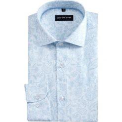 Koszula SIMONE KDWR000394. Szare koszule męskie na spinki marki S.Oliver, l, z bawełny, z włoskim kołnierzykiem, z długim rękawem. Za 199,00 zł.