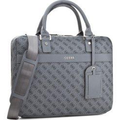 Torba na laptopa GUESS - Uptown Logo HM6210 POL74  GRY. Szare plecaki męskie marki Guess, z aplikacjami. W wyprzedaży za 289,00 zł.