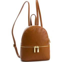 Plecak CREOLE - K10577  Koniak. Czarne plecaki damskie marki Creole, ze skóry. W wyprzedaży za 159,00 zł.