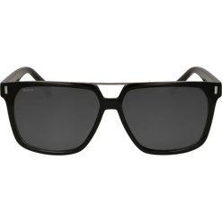 Czarne okulary przeciwsłoneczne. Czarne okulary przeciwsłoneczne męskie Kazar, z lakierowanej skóry. Za 349,00 zł.