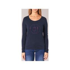 T-shirty z długim rękawem Armani jeans  DRANUZ. Czarne t-shirty damskie marki Armani Jeans, z jeansu. Za 293,30 zł.