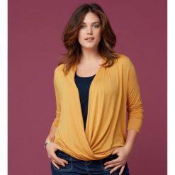 Bluzki damskie: Kopertowa lejąca się koszulka