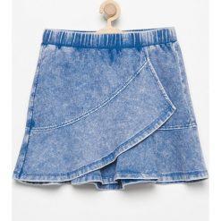 Spódniczki: Spódnica z asymetryczną falbaną - Niebieski