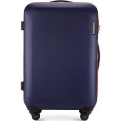 Walizka średnia 56-3-612-90. Niebieskie walizki marki Wittchen, z gumy, średnie. Za 249,00 zł.