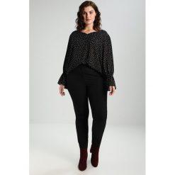 Bluzki asymetryczne: Dorothy Perkins Curve V NECK SHEARED WRIST Bluzka black spot