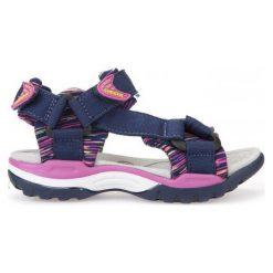 Geox Sandały Dziewczęce Borealis 30 Niebieski. Niebieskie sandały dziewczęce Geox, z materiału. W wyprzedaży za 169,00 zł.