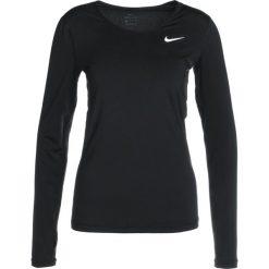 Nike Performance ALL OVER Koszulka sportowa black/white. Czarne topy sportowe damskie marki Nike Performance, l, z materiału, outdoorowe. Za 149,00 zł.