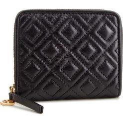 Mały Portfel Damski TORY BURCH - Fleming Medium Wallet 43558 Black 001. Czarne portfele damskie Tory Burch, ze skóry. Za 729,00 zł.