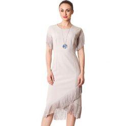 Sukienki asymetryczne: Sukienka w kolorze jasnoszarym