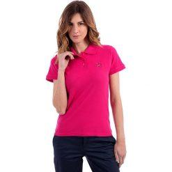 Topy sportowe damskie: Koszulka polo w kolorze różowym