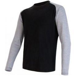 Odzież termoaktywna męska: Sensor Koszulka Termoaktywna Z Długim Rękawem Merino Active Pt Logo M Black/Gray M