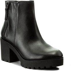 Botki ALDO - Koredia 51977444 96. Czarne buty zimowe damskie ALDO, z materiału, na obcasie. W wyprzedaży za 229,00 zł.