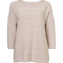 Odzież damska: Sweter w kolorze kremowo-jasnoróżowym