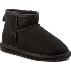 Buty EMU AUSTRALIA - Stinger Micro W10937 Black. Czarne buty zimowe damskie EMU Australia, ze skóry, na niskim obcasie. Za 549,00 zł.