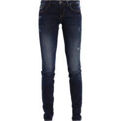 LTB CLARA Jeansy Slim Fit darkblue denim. Niebieskie jeansy damskie marki LTB, z bawełny. W wyprzedaży za 223,20 zł.