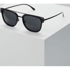 Polo Ralph Lauren Okulary przeciwsłoneczne crystal black/gray. Czarne okulary przeciwsłoneczne męskie wayfarery Polo Ralph Lauren. Za 609,00 zł.