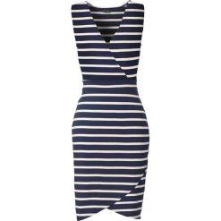 Sukienki: Sukienka bonprix ciemnoniebiesko-biały w paski