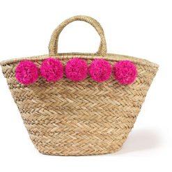 Torebki klasyczne damskie: Słomiany koszyk z pomponami