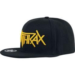 Anthrax Logo Czapka Snapback czarny. Czarne czapki z daszkiem damskie Anthrax, z aplikacjami, z tworzywa sztucznego. Za 121,90 zł.