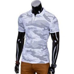 KOSZULKA MĘSKA POLO Z NADRUKIEM MORO S754 - BIAŁA. Białe koszulki polo marki Ombre Clothing, m, moro, z bawełny. Za 39,00 zł.