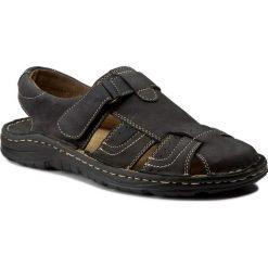 Sandały WALDI - 0051 Czarny Samuel. Czarne sandały męskie skórzane Waldi. W wyprzedaży za 119,00 zł.