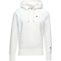 Champion Reverse Weave HOODED Bluza z kapturem white. Białe bluzy męskie rozpinane Champion Reverse Weave, m, z bawełny, z kapturem. Za 419,00 zł.