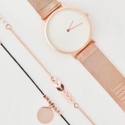 Zestaw: zegarek i bransoletki - Złoty. Żółte zegarki damskie House, złote. Za 49,99 zł.