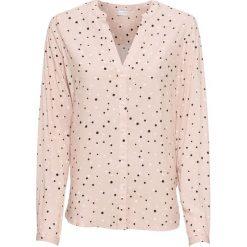 Bluzka w kropki bonprix matowy beżowy w kropki. Brązowe bluzki damskie marki bonprix, w kropki, eleganckie. Za 74,99 zł.