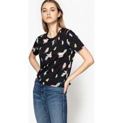 T-shirty damskie: T-shirt z okrągłym dekoltem z nadrukiem w zwierzęta