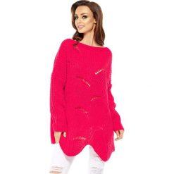 Swetry klasyczne damskie: Sweter w kolorze malinowym