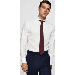 Mango Man - Koszula Angus. Szare koszule męskie na spinki Mango Man, l, z bawełny, z włoskim kołnierzykiem, z długim rękawem. Za 199,90 zł.