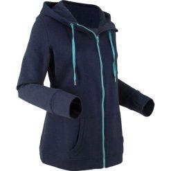Bluza rozpinana, długi rękaw bonprix ciemnoniebieski melanż. Niebieskie bluzy rozpinane damskie marki bonprix, melanż, z długim rękawem, długie. Za 59,99 zł.