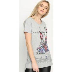 Bluzki damskie: Szary T-shirt Tower Of Love