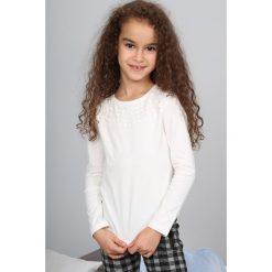 T-shirty dziewczęce: Kremowa Bluzka Dziecięca NDZ34042