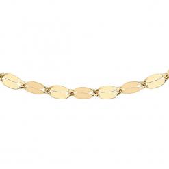 Złoty naszyjnik - (D)41 cm. Żółte naszyjniki damskie marki METROPOLITAN, pozłacane. W wyprzedaży za 159,95 zł.