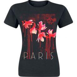 Rammstein Blut Frühling Koszulka damska czarny. Czarne bluzki damskie Rammstein, s, w kwiaty, z okrągłym kołnierzem. Za 94,90 zł.