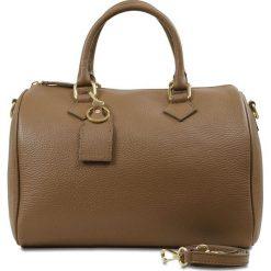 """Torebki klasyczne damskie: Skórzana torebka """"Karen"""" w kolorze jasnobrązowym – 29,5 x 12,5 x 25 cm"""