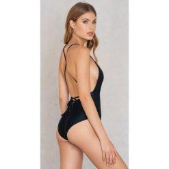 Stroje kąpielowe damskie: Hot Anatomy Jednoczęściowy kostium kąpielowy Cross Back - Black