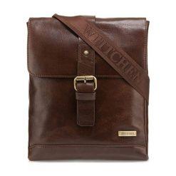 Torebki klasyczne damskie: Skórzana torebka w kolorze brązowym – (S)23 x (W)27 x (G)3,5 cm