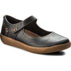 Półbuty CLARKS - Un Haven Strap 261321924 Black Leather. Czarne półbuty damskie skórzane marki Clarks, na płaskiej podeszwie. W wyprzedaży za 269,00 zł.