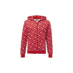 Bluzy dresowe Dziecko adidas  Bluza z kapturem Trefoil Monogram. Czerwone bluzy chłopięce rozpinane marki Adidas, z dresówki, z kapturem. Za 229,00 zł.