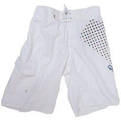 Boardshorty w kolorze białym. Niebieskie kąpielówki męskie marki Burton Menswear London. W wyprzedaży za 119,00 zł.