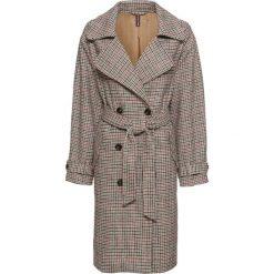 Płaszcz w kratę bonprix brązowy w kratę. Brązowe płaszcze damskie bonprix, eleganckie. Za 189,99 zł.