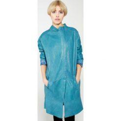Płaszcze damskie pastelowe: Płaszcz skórzany - YUKI LG SAEBL
