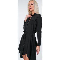 Sukienki hiszpanki: Sukienka zapinana na guziki czarna 7003