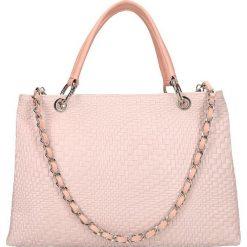 """Torebki klasyczne damskie: Skórzana torebka """"St. Germain"""" w kolorze jasnoróżowym – 33,5 x 25 x 14 cm"""