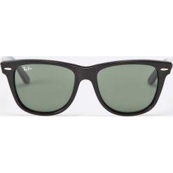 Ray-Ban - Okulary Wayfarer. Szare okulary przeciwsłoneczne męskie wayfarery marki Ray-Ban, z materiału. Za 499,90 zł.