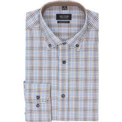 Koszula bexley 2190 długi rękaw custom fit beż. Brązowe koszule męskie jeansowe Recman, m, w kratkę, button down, z długim rękawem. Za 89,99 zł.